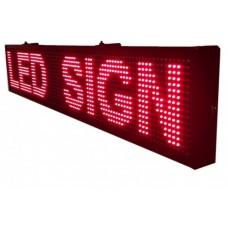Κυλιώμενη επιγραφή LED μονής όψης 100x20 cm